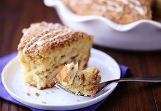 """Cinnamon rolls as the crust, coffee cake as the """"pie""""… what could be better?"""