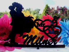 Our stunning silhouette Bride & Groom with your Surname Wedding cake Toppers Wedding Cake Toppers, Wedding Cakes, Bride Groom, Silhouette, Halloween, Jasmine, Ebay, Wedding Gown Cakes, Cake Wedding