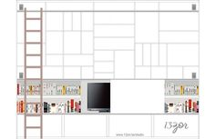 Home library with tv the bible 45 Ideas Diy Home Interior, Interior Decorating, Interior Design, Living Room Wall Units, Home Living Room, Loft Design, House Design, Trendy Home, Living Room Inspiration