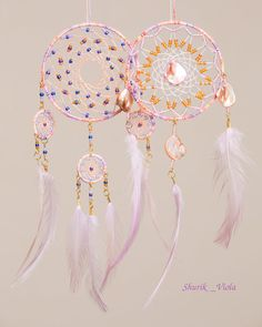 "Set of dreamcatchers ""sunrise"" and ""sunset"""