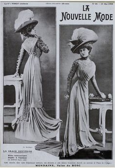 """Jeanne Margaine-Lacroix deserves to be recognised as the designer who succeeded in """" bouleversant la mode"""" or """"knocking fashion sideways"""" as Les Modes reported in July 1908, describing her narrow clinging style thus: """"It is the dress of the moment, that which gives us the silhouette of a modern Merveilleuse."""""""