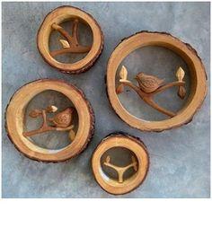 Cuadritos de madera tronco