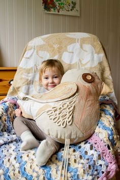 Whimsical Woodland Bird, Care to cuddle