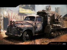 Attack car Picture  (2d, fan art, post apocalyptic, car, truck, fallout)