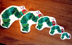 Size matching and sorting activity using The Very Hungry Caterpillar theme.