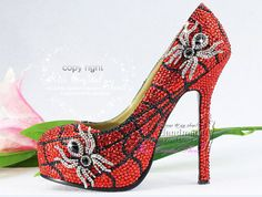 Hey, I found this really awesome Etsy listing at https://www.etsy.com/listing/199185230/sparkly-wedding-shoes-bling-weddiing Spider Man