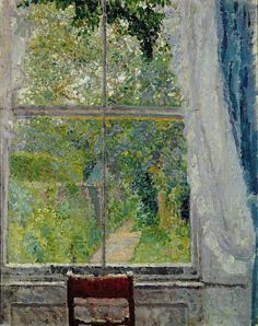 """Spencer Frederick Gore: """"View from a Window,(1909)."""