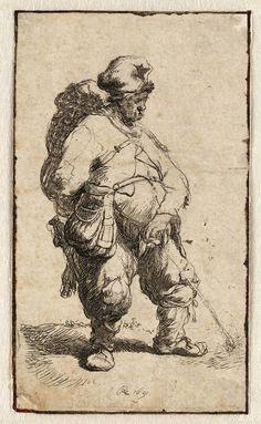 Rembrandt in Teylers Museum: Waterende man (B190)