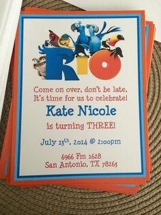 Kate's rio party invites