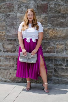 4efcbfbda5530 Pleated Skirts + Setting Intentions. Plus Size DressesPlus ...
