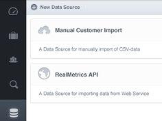 Nice data source UI