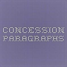 Concession Paragraphs