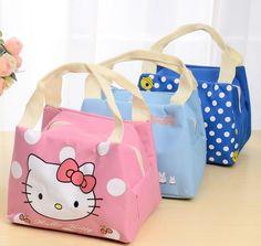 Oxford crianças almoço sacos Totoro Olá Kitty Doraemon saco de refeição para childern sacos de isolamento lancheira térmica saco de piquenique à prova d' água