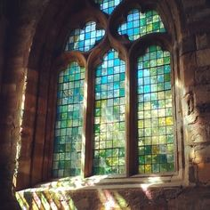 Beautiful stained glass at Seton Collegiate Church #Scotland #history