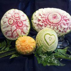 Melon Carvings by Yolanda Diaz