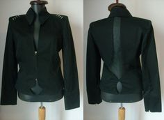 SALE- Vintage Stylish Thierry Mugler Black Blazer by vintageismagic on Etsy