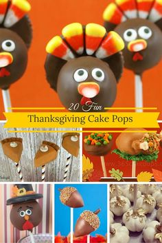 20 Fun Thanksgiving cake pops Thanksgiving Cake Pops, Fall Fest, Give Thanks, Thankful, Baking, Rose, Fun, Mid Autumn Festival, Pink
