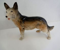 German Shepherd Dog Lovely Porcelain Dog Figurine Made In England