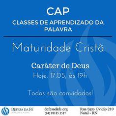 CAP logo mais às 19h  #biblia #defesadafe #mdfe #aprendizadodapalavra