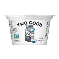 Dannon Two Good Plain Yogurt - Low Sugar Yogurt, Best Greek Yogurt, Cashew Yogurt, Full Fat Yogurt, Dairy Free Yogurt, Plain Greek Yogurt, Yogurt Brands, Milk Store, Make Your Own Yogurt