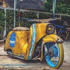schwalbe - Google-Suche Moped Scooter, Vespa Scooters, Custom Moped, Custom Bikes, Rat Rod Cars, Motorised Bike, Mustang, Motor Scooters, Super Bikes
