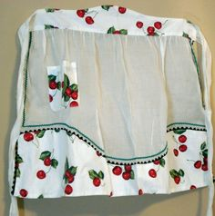 ANTIQUES GALORE GAL: CELEBRATEING REDNESDAY WITH A VINTAGE CHERRY APRON