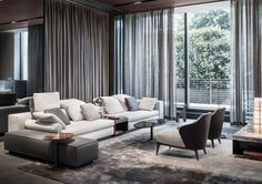 Yang seating system and Leslie armchairs, Rodolfo Dordoni Design