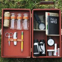 Gift Idea: DIY Explorer Kit - maybe without the sharp bits for the younger kiddos.