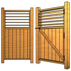Building a Full Sized Louvered Gate