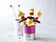 Lækre fødselsdagssnacks i mundrette børnebidder #karenvolf #studenterguf #børnefødselsdag #tips