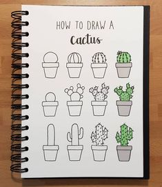 Bullet Journal Doodles: 24 Amazing Doodle Ideas For Beginners & Beyond! – Meraad… Bullet Journal Doodles: 24 Amazing Doodle Ideas For Beginners & Beyond! Bullet Journal Doodles, Bullet Journal Mood, Bullet Journal Inspiration, Cute Doodles Drawings, Easy Drawings, Planner Stickers, Great Doodle, How To Doodle, Cactus Doodle