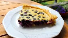 Krehký čučoriedkový koláč (fotorecept)
