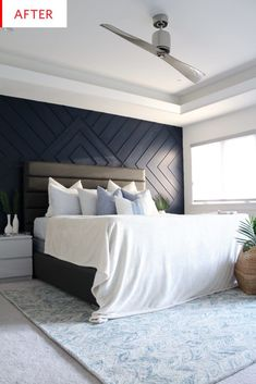 One Room Challenge - Week The Modern Coastal Master Bedroom Makeover Coastal Master Bedroom, Coastal Bedrooms, Master Bedroom Makeover, Master Bedroom Design, Bedroom Decor, Bedroom Ideas, Black Bedrooms, Master Suite, Bedroom Furniture