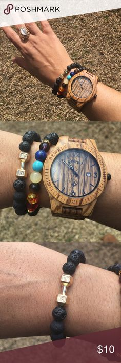 🆕Lava Bracelet Gold Live&Lift Stretch Bracelet Beautiful Unisex Lava Bracelet for workout enthusiasts this listing is for one bracelet only. All jewelry is available for sale including watch that was pictured. Get a better deal when you bundle. Evolve Always Accessories Jewelry