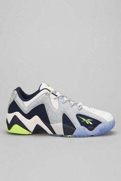 34c00c2e72d308 Reebok Kamikaze 2 Low-Top in White Neon   Grey