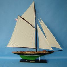 Handcrafted Nautical Decor Atlanta Limited Model Yacht
