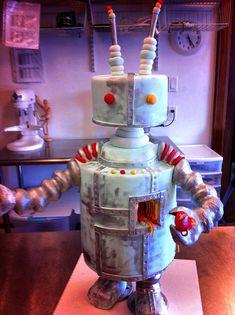 50 Creative Party Celebration Cake Designs Around The World Unique Cakes, Creative Cakes, Cupcakes, Cupcake Cakes, Fondant Cakes, Cupcake Toppers, Beautiful Cakes, Amazing Cakes, Robot Cake