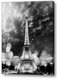 Eiffel tower, Paris photo, Paris canvas, Paris decor, Canvas print, Canvas photo, Gallery wrap, Black and white, Home decor, Room decor