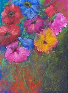 Nasenschmeichler - Nosegay 38,5 x 28,5 cm Oil Pastel by Karin Goeppert
