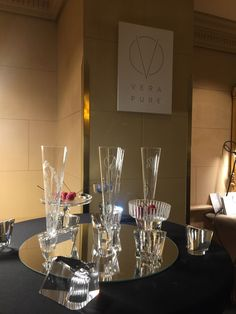 Throwback to last year's Masterpiece Collection held at the beautiful Grand Hotel Wien where we exhibited our tableware designs and new art pieces by Vera Purtscher. #glassware #champagne #cocktail #barware #celebration 