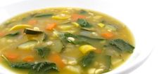 """For """"Meatless Mondays"""" A Nutritious and Delicious Garden Vegetable Soup! What a delicious, healthy, vegetarian soup! One cup of soup has 74 calories, 0 grams fat and 2 Weight Watchers POINTS PLUS. Garden Vegetable Soup, Vegetable Barley Soup, Veggie Soup, Vegetarian Soup, Vegetarian Recipes, Healthy Recipes, Ww Recipes, Soup Recipes, Cooking Recipes"""