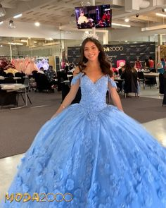 Informal showroom offering formal gowns for special events, including proms & quinceañeras. Book your appointment to say YES to your dream dress! 714 774 7537 845 N. Lavender Quinceanera Dresses, Mexican Quinceanera Dresses, Robes Quinceanera, Quince Dresses, Ball Dresses, Pageant Dresses, Light Blue Quinceanera Dresses, Xv Dresses, Fashion Dresses