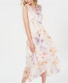 7470dc22d Calvin Klein Petite Floral High-Low Maxi Dress