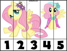 FREE! My Little Pony #1-5 Puzzles - preKautism.com Autism Education, Art Education, Pony 2, My Little Pony 1, Kids Rewards, Vip Kid, Toddler School, Number Puzzles, Autism Activities
