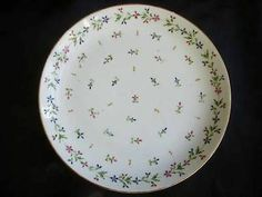 19th century Meissen plate Angouleme Sprig pattern
