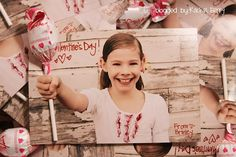 Frugal Valentine - print 4x6 photos using holiday sales, then insert lolipop (maybe some tape on back) but too cute! And definitely a keeper!