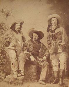 1872 BUFFALO BILL CODY & TEXAS JACK OMOHUNDRO CABINET CARD  By GURNEY
