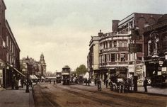Camberwell's Palace of Varieties, on the right hand side, on the corner where Denmark Hill meets Orpheus Street (date of image unknown). Photograph from The Theatres Trust Image Library www.theatrestrust.org.uk