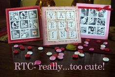 Valentine Cards with RTC (Ready to Cut) Mosaic Moments Grid Paper. So Easy - Adorable!