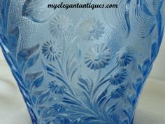 Would like to find: Blue Tiger Lily | ... Glass L E Smith Ice Blue Dogwood (Tiger Lily) Pitcher 8 Tumblers